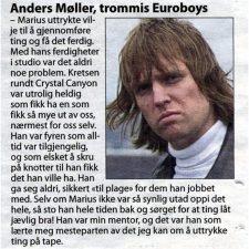 Minnekonsert Marius Bodin Larsen, Aftenposten