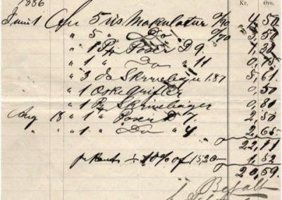 Nota fra J. J. Fabricius