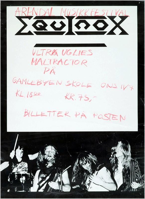 Konsertplakat Arendal Musikkfestival 1990