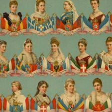 Europeiske dronninger, oljetrykk ca 1880