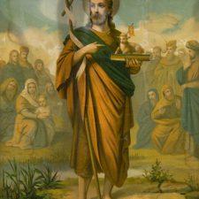 Jesus som Den Gode Hyrde, oljetrykk ca 1880