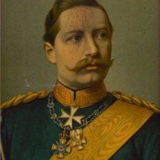Keiser Wilhelm II, oljetrykk ca 1880
