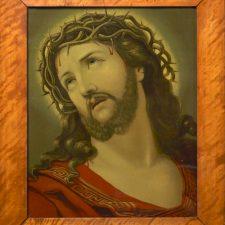 Den lidende Jesus. Oljetrykk ca 1880
