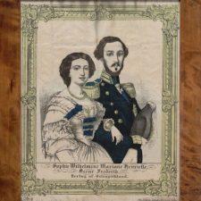 Sophie og Oscar, håndkolorert litografi ca 1860