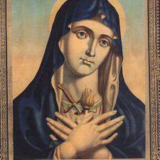 Oljetrykk Jomfru Maria