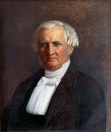 Andreas Faye Maleri av Christiane Schreiber 1861. Rektorgalleriet, Universitetet i Agder.