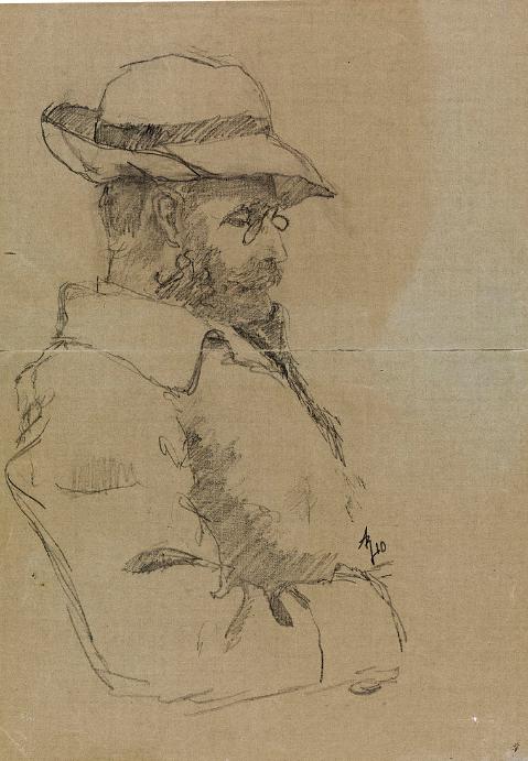 Hans Henrik Jæger. Portrett av Andreas Bloch.