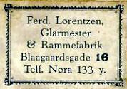 Ferd. Lorentzen Glarmester & Rammefabrik