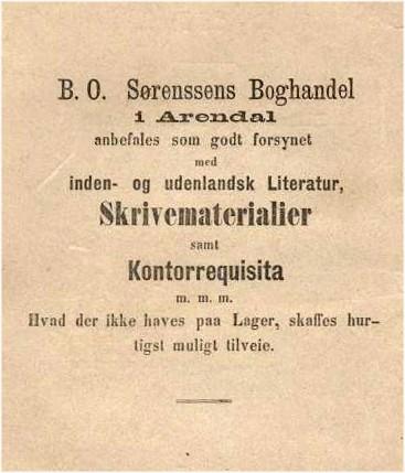 Annonse på omslaget av Pjerrot. En Samling af komiske Digte, 1874.