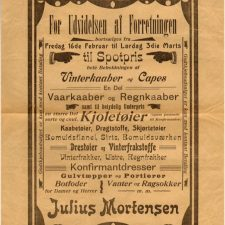 Julius Mortensen reklameplakat