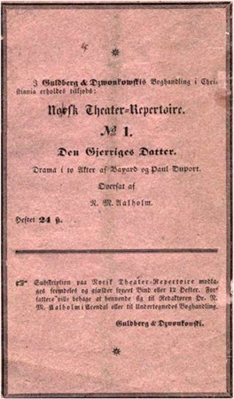 Norsk Theater-Repertoire No 2